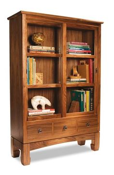 Sliding Door Bookcase - Woodworking Projects - American Woodworker