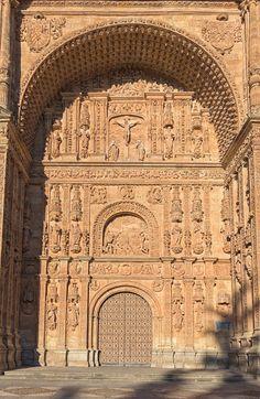 Portico facade. Convento iglesia-monasterio de San Esteban. Salamanca, Spain.