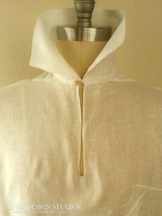 100% linen- hand stitched replica of 18th century farmer's shirt www.fadendesignstudios.com #couture #cosplay #fashion #menswear #outlander #jamiefraser