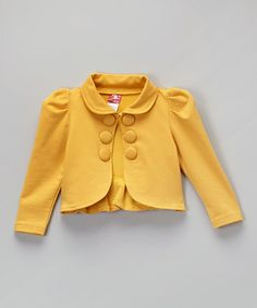 Look what I found on #zulily! Goldenrod Yellow Collar Bolero - Toddler & Girls #zulilyfinds