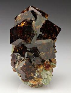 Brown Grossular Garnet Crystals