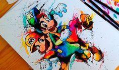 A artista Sueca e nerd, Lisa-Marie Melin, resolveu mostrar a cultura geek de outra forma através das suas cores e traços. Confira no nosso blog: http://sala7design.com.br/2014/11/cultura-geek-pelas-maos-de-lisa-marie.html