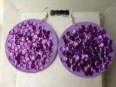 Purple Glitzy Globes $20
