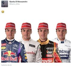 The many colors of Fernando Alonso. Where will Fernando be in 2015? That's the question that everyone wants to know!