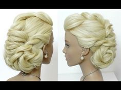 Hairstyles for long hair tutorial. Bridal prom updo. - YouTube