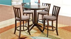 picture of Hallie Espresso 3 Pc Counter Height Dining Room from  Furniture
