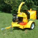 "PowerTek (7"") 31HP Hydro-Feed Tow-Behind Chipper Shredder. The 31 HP Briggs & Stratton Vanguard engine dependably drives the operation of a 30-inch flywheel-and-knife combination that chews through wood up to 7 inches in diameter.    This allows you to turn wood too small to be firewood into valuable mulch instead of burning it on-site: better for your budget, and the environment."
