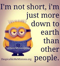 。◕‿◕ I'm not short, i'm just more down to earth than other people. Ha ha I am short but this still makes me laugh!!!
