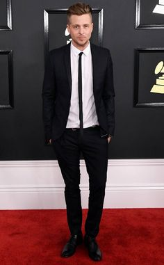 Ryan Tedder from Grammys 2017 Red Carpet Arrivals  In Topman
