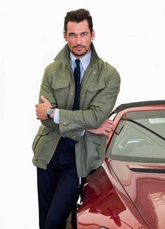 UHQ - David Gandy attends 'Cartier Style Et Luxe' at the Goodwood Festival Of Speed promoted by Montblanc David Gandy Style, David James Gandy, Goodwood Festival Of Speed, Field Jacket, Gorgeous Men, Male Models, Supermodels, Military Jacket, Cartier
