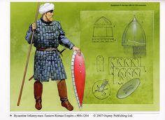 Byzantine infantryman, late X-early XI century.