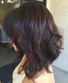 80 Sensational Medium Length Haircuts for Thick Hair Black Layered Hair With Chocolate Balayage Medium Brown Hair, Medium Hair Cuts, Medium Hair Styles, Curly Hair Styles, Natural Hair Styles, Haircut For Thick Hair, Haircuts With Bangs, Wavy Hair, Layered Haircuts