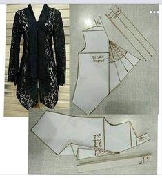 Amazing Sewing Patterns Clone Your Clothes Ideas. Enchanting Sewing Patterns Clone Your Clothes Ideas. Dress Sewing Patterns, Blouse Patterns, Clothing Patterns, Kebaya Brokat, Pola Kebaya Kutubaru, Model Kebaya, Batik Kebaya, Kebaya Muslim, Sewing Blouses