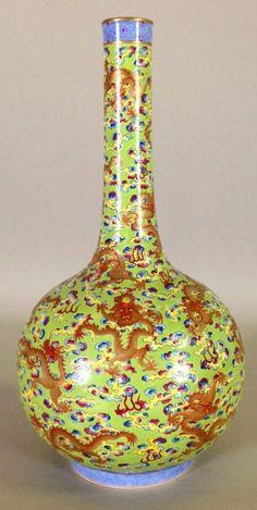 Chinese Famille Rose Peking Reward Vase, Marked on Bas - Aug 2014 Chinese Ornament, Asian Vases, Rose Vase, Blue And White China, Japanese Porcelain, Chinese Ceramics, Chinoiserie, Asian Art, Ceramic Art
