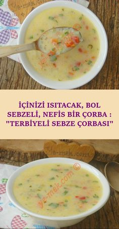 You can do easily at home, both were delicious, as well as a healthy soup recipe . Greek Salad Pasta, Soup And Salad, Vegetable Soup Seasoning, Healthy Soup Recipes, Cooking Recipes, Turkish Kitchen, Turkish Recipes, Diy Food, Meal Planning