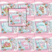 FREE WHEN U SPEND £10 - 10 CARD FRONT KITS - SET 11