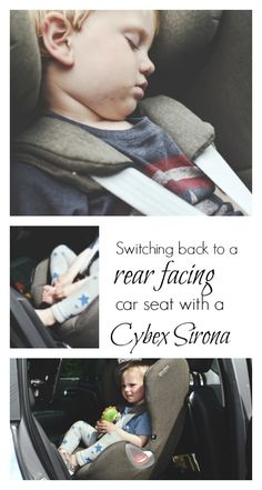 After over a year of using a forward facing car seat, we've taken note of the current safety guidelines and now use a Cybex Sirona extended rear facing car seat