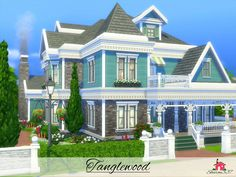 Tanglewood is a family home built on a 40 x 30 lot in Newcrest.  Found in TSR Category 'Sims 4 Residential Lots'