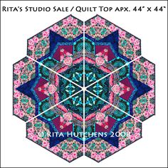 Rita Hutchens Quilt Top Studio Sale.  I am cleaning out my studio and have found some original design quilt tops for you all to collect. Prices range from $25.00 - $120.00 + shipping.  More information and purchase at Rita's Etsy Shop.