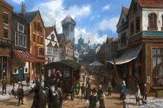 Medieval City, Lee b on ArtStation at https://www.artstation.com/artwork/nZNrE