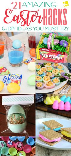 diy projects Easter egg hacks and fun kids' DIYs can save you a ton of money, mess, frustration, or boredom! Plastic Easter Eggs, Easter Candy, Easter Treats, Easter Lunch, Easter Food, Hoppy Easter, Diy Projects Easter, Easter Crafts For Kids, Do It Yourself Organization