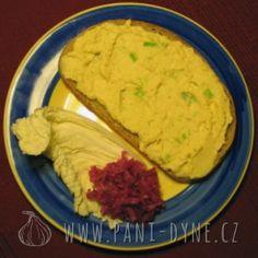 Paní Dýně - Pomazánka z tofu a zeleniny Tofu, Hummus, Pesto, Cheese, Chicken, Ethnic Recipes, Gardening, Fitness, Lawn And Garden