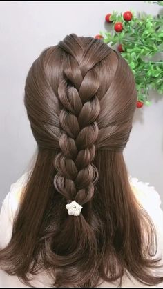 Easy Hairstyles For Long Hair, Braids For Long Hair, Cute Hairstyles, Braided Hairstyles, Teenage Hairstyles, Indian Hairstyles, Front Hair Styles, Short Hair Styles Easy, Medium Hair Styles