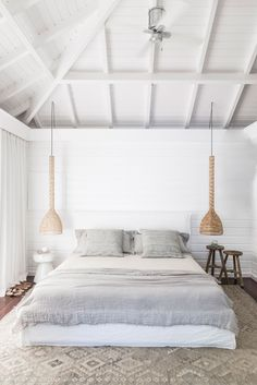 Trendy Home Decored Beach Bedroom Beach House Bedroom, Home Bedroom, Bedroom Decor, Beach Bedrooms, Home Interior, Interior Design, Gravity Home, Beach Cottage Decor, House Styles