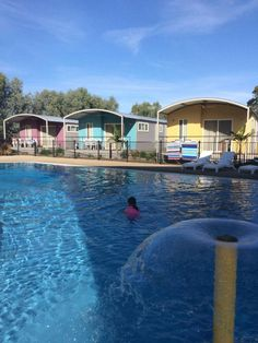Accommodation - 3 Bedroom Resort Villa - BIG4 Deniliquin Holiday Park. These brand new villas are super spacious, sleep up to 8 people and have close access to all fabulous facilities like the pool and the jumping pillow!