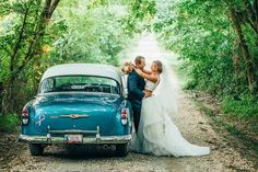 Classic Car for Wedding! This is hands down one of our favorites! #HamiltonWedding