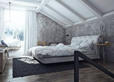 awesome industrial interior design bedroom with industrial bedroom interior design luxury industrial bedroom interior White Bedroom Furniture, Home Decor Bedroom, Bedroom Wall, Bedroom Ideas, Bed Room, Furniture Decor, Industrial Bedroom Design, Rustic Bedroom Design, Bedroom Designs