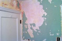 Wetting down the wallpaper with a mixture of wallpaper remover, hot water and fabric softener can make the removal process much easier, Rondeau says. (Photo courtesy of Angie's List member Diane C. of St. Louis)