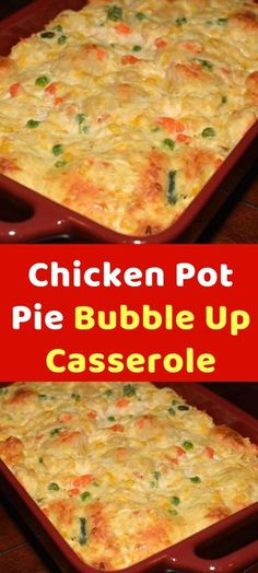 Chicken Pot Pie Bubble Up Casserole Okay, now I'm in trouble as I want this right now. We LOVE the enchilada bubble and pizza bubble casseroles. Gourmet Recipes, Crockpot Recipes, Dinner Recipes, Cooking Recipes, Healthy Recipes, Pie Recipes, Dinner Ideas, Cooking Games, Chicken