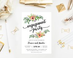 Printable - Sweetest Day Engagement Party Invitation