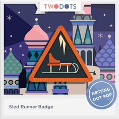 I sloped down a snowy hill and earned my Sled Runner Badge! - playtwo.do/ts #twodots
