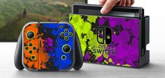 PRE-ORDER Nintendo Switch Skin Splatoon Custom Vinyl Wrap Decal Sticker