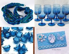 Treasury Power Blue by Laurie Reiser on Etsy--Pinned with TreasuryPin.com