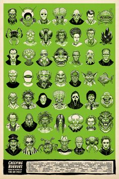 History of Monsters 24x36 print by TimOdland on Etsy