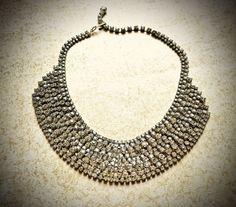 Amazing Rhinestone Necklace-Vintage Clear by JNPVintageJewelry