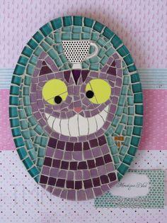 Mosaico Cheshire Cat by Tainah Neves