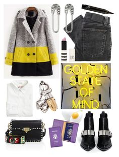 """""""Passport renovation #coat"""" by unhelecho ❤ liked on Polyvore featuring McQ by Alexander McQueen, Nudie Jeans Co., Rebecca Minkoff, Forever 21, J.Crew, Valentino, Topshop, Royce Leather, safetypin and Lovenothate"""