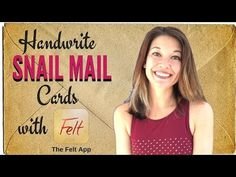 In this video, I'll show you how I use the Felt App from my iPad to send beautiful handwritten, personalized greeting cards and thank you notes without ever . Personalized Greeting Cards, Snail Mail, Thank You Notes, Things To Buy, Handwriting, Felt, App, Youtube, Calligraphy