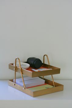 how to make a desk organizer from a hanger and two frames