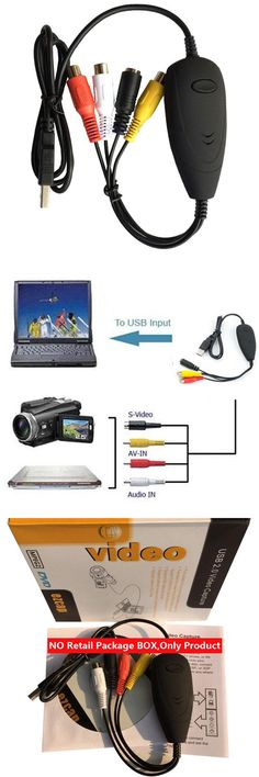 [Visit to Buy] NEW EZCAP USB Video Grabber with Audio,VHS to DVD Converter Maker,Capture Analog video from VHS,8MM,Video Camera TV to PC,Win10 #Advertisement
