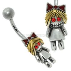 Cute Belly Bar - Little Zombie Girl- Buy Jewellery