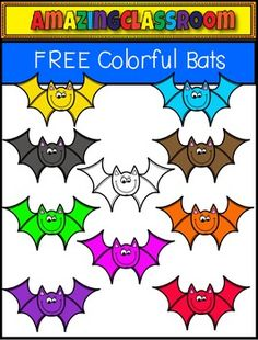 This cute clip art set includes 10 colorful bat images. 9 in color and 1 in digital stamp format.  These are high quality png images (meaning no white background around them).  They will re-size nicely and still remain crisp.  These can be used for personal and/or commercial use as long as a link back is provided in your products.