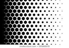 Gradient background with hexagons Halftone design Light effect Vector illustration Hexagon Tattoo, Geometric Tattoo Pattern, Geometric Sleeve Tattoo, Geometric Pattern Design, Geometric Designs, Hexagon Pattern, Design Tattoo, Tattoo Designs, Osiris Tattoo