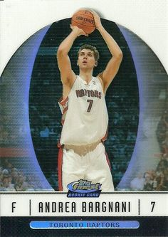 2006-07 FINEST BLACK REFRACTOR #90 ANDREA BARGNANI RC 59/99 RAPTORS 50 CENT SHIP…