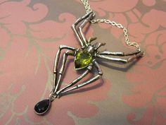 Alchemy Gothic Emerald Venom Spider Necklace    http://nocturnal-beauty.blogspot.co.uk/2012/08/alchemy-gothic-emerald-venom-necklace.html