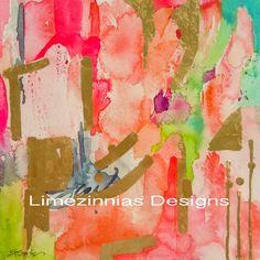 Abstract Art Print  Peaceful Dreams i See by LimezinniasDesign